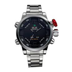 Multi Function Quartz Date Mens Military Sport Wrist LED Watch Black
