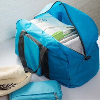 Multifunctional Portable Foldable Travel Luggage Clothes Storage Bag shoulder bag folding bag - intl