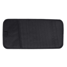 Multifunctional Universal Car Auto Sun Visor CD Wallet DVD Holder Storage Bag Case Organizer Black (Intl)