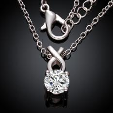 N027-CHigh Quality Zircon Necklace Fashion Jewelry Free Shopping 18K Gold Plating Necklace (Intl)