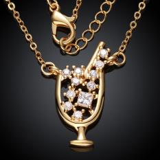 N036-AHigh Quality Zircon Necklace Fashion Jewelry Free Shopping 18K Gold Plating Necklace (Intl)