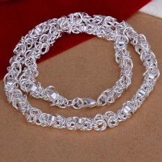 N061 Fashion Trendy Classic Jewelry 925 Sterling Silver Plated Chain Necklace