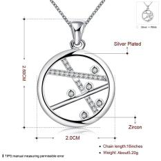 N70.2016 Crystal Plant Shape Pendant Silver Plated Necklaces Long Chain Women Wedding Necklaces Jewelry - Intl