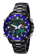 NAVIFORCE 9030E Dual Movement LED Fashion Waterproof Watch (Black) (Intl)