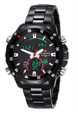 NAVIFORCE 9030G Dual Movement LED Fashion Waterproof Watch (Black) (Intl)