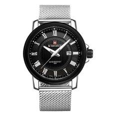 NAVIFORCE Casual Men Wristwatch Water Resistant Men's Quartz Watch Stainless Steel Strap with Calendar Luminous Pointers (Intl)