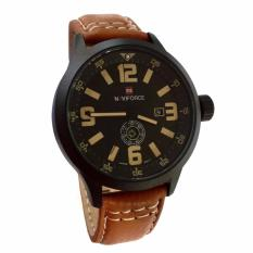 Naviforce Leather Strap 9626 - Analogue Movement - Black