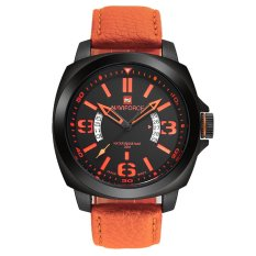 Naviforce NF9062 Analog Date Quartz Military Leather Wrist Watch
