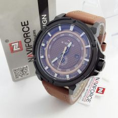 Naviforce NF9073 - Jam Tangan Casual - Chrono - Leather - Cokelat