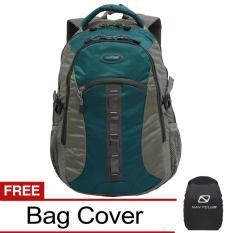 Navy Club Tas Ransel Kasual 6262 Backpack Daypack Bonus Bag Cover - Hijau