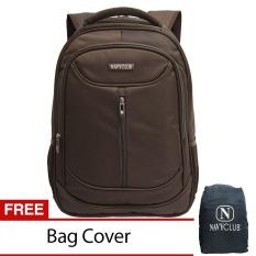 Navy Club Tas Ransel Laptop Waterproof 8291 - Coffee + Free Bag Cover