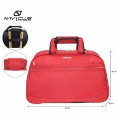 Navy Club travel bag - duffle bag - Tas pakaian multi fungsi (Tas jinjing Dan Tas Selempang) 7056 M - Merah
