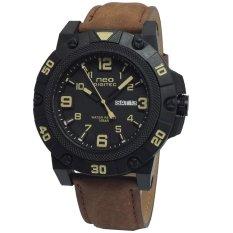 Neo Digitec Jam Tangan Pria - ND8208LT - Strap Leather - Coklat Kombinasi