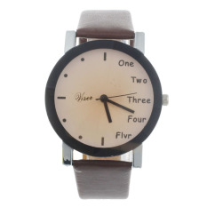 Neutral Leisure Letters Motion Simulation Of Electronic Quartz Watch Coffee (Intl)