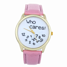 New Style Who Cares Irregular Figure High Quality Women Wristwatch Fashion Watches (Pink) - Intl