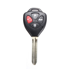 New 4 Button Remote Key Keyless Shell For TOYOTA Carola Fe 2008-2012 Uncut Blade - Intl