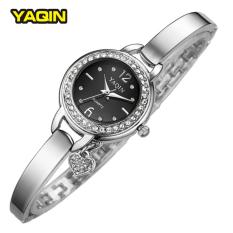 New Brand YAQIN Clock Female Fashion Small Pendant Watch Harp Watch Bracelet Watches Ladies (Black) - Intl