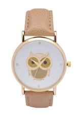 New Fashion Cartoon Owl Style Dress Gold Watch Women Clock Casual Wrist Watch Quartz Watches (Green) (Intl)