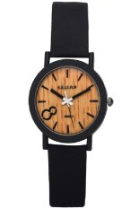 New Fashion Casual Watch Unisex Number 8 Pattern Wrist Watches Leather Band Genuine Leather (Black)