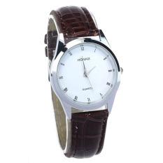 New Fashion Classic Lady Womens Girl Unisex Leather Quartz Wrist Watch (Coffee)