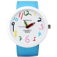New Fashion Cute Women Ladies Girls Quartz Bracelet Leather Wrist Watch Gift
