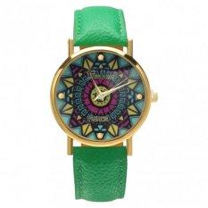 New Fashion Women Casual Retro Style Wristwatch Alloy Elegant Quartz Watch (Green)