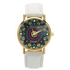 New Fashion Women Casual Retro Style Wristwatch Alloy Elegant Quartz Watch (White)