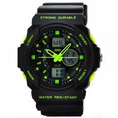 2015 New Hoplastic Digital Racing Women Sports Watches Multifunction Rubber Strap Relogio Masculino Women'S Watches Waterproof Green (Intl)