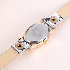 New Leather Star Bracelet Wristwatch Women Chain Hot Wirst Watch Sliver (Intl)