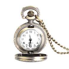 New Retro Antique Brass Owl Design Small Size Pocket Watch Necklace Unisex (Intl)