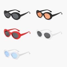 New Retro Small Box Sunglasses Men and Women Trend Sunglasses -White Box Black Gray - intl