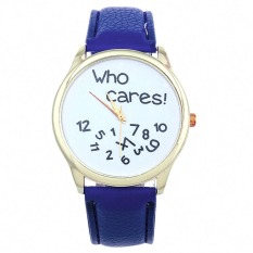 New Style Who Cares Irregular Figure High Quality Women Wristwatch Fashion Watches (Navy Blue) - Intl