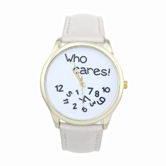 New Style Who Cares Irregular Figure High Quality Women Wristwatch Fashion Watches (White) - Intl