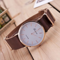 New Ultra-thin Leather Belt Geneva Classic Simple Scale Men Watches BW - intl