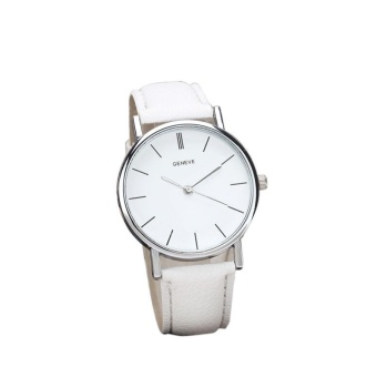 New Womens Retro Design Leather Band Analog Alloy Quartz Wrist Watch WH - intl