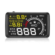 "New X3 5.5"" Car ELM327 Heads Up Display HUD OBD II Vehicle Speeding Warning MPH With Anti-slip Pad Car Styling Bluetooth Version - Intl"