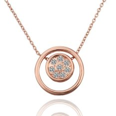 Nice Rose Gold Plated Brand Bicyclo- with Rhinestones Long Pendant Necklace (Intl)