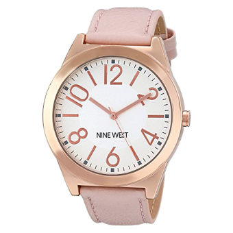 Nine West Women's NW / 1660SVPK Rose Gold-Tone Case Watch With Blush Strap (Intl)
