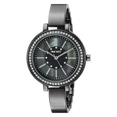 Nine West Women's NW / 1747GMGN Swarovski Crystal Accented Gunmetal Bangle Watch (Intl)