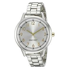 Nine West Women's NW / 1749WTTT Silver-Tone Bracelet Watch (Intl)