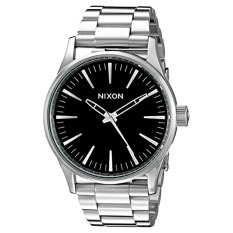 nixon menu0027s a450000 sentry 38 ss analog display japanese quartz silver watch intl