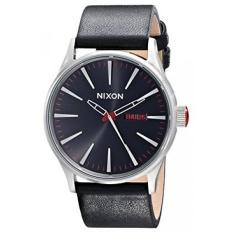 nixon mens aentry leather watch intl