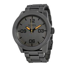 nixon watch corporal ss grey case bracelet mens nwt