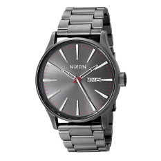 Nixon Watch Grey Stainless-Steel Case Stainless-Steel Bracelet Mens NWT + Warranty A356131