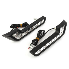 OEM 2x White 6 LED Car Daytime Running Light DRL Driving Daylight Lamp Bulb (Intl)