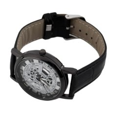 OH Cool Design Hollow Out Transparent Dial PU Leather Wrist Watch Gift New
