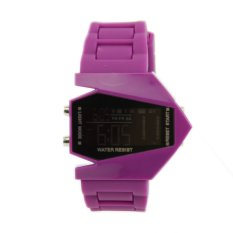 Okdeals Fashion LED Multifunction Electronic Sports Watches Men's Boy's Watch Purple (Intl)