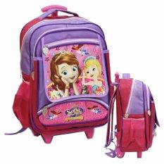 Onlan Tas Trolley Anak Sekolah SD Ukuran Besar Karakter Sofia The First - Purple