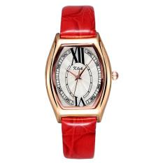 JIANGYUYAN Hot Sale 2015 Women Watch Leather Straps Fashion Casual Brand Quartz Wristwatches Rose Gold (Red) (Intl)