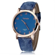 JIANGYUYAN Quartz Watch Women's Watch Fashion Casual Watch Leather Straps Wrist Watch (Dark Blue) (Intl)